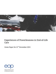 GREEN PAPER – Experiences of Powerlessness in End-of-Life Care