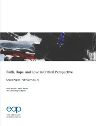 GREEN PAPER – Faith, Hope, and Love in Critical Perspective