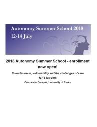 Autonomy Summer School 2018